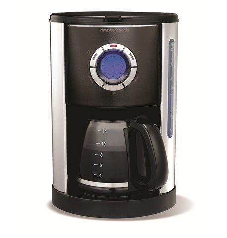 Morphy Richards Accents 47095 Digital Filter Coffee Maker, Black