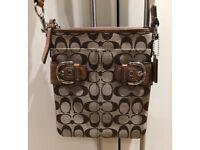 Genuine Coach Cross Body Handbag / Bag