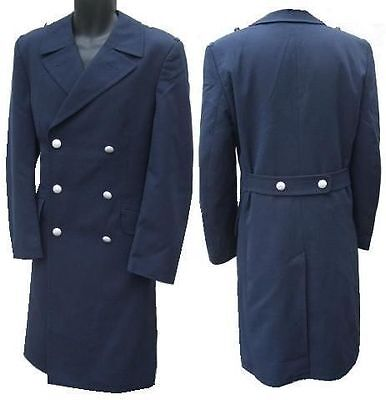 Navy mens pea trench coat