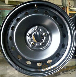 Like New Steel Rims 18 x 8, 5x120 with hubcaps - winter ready