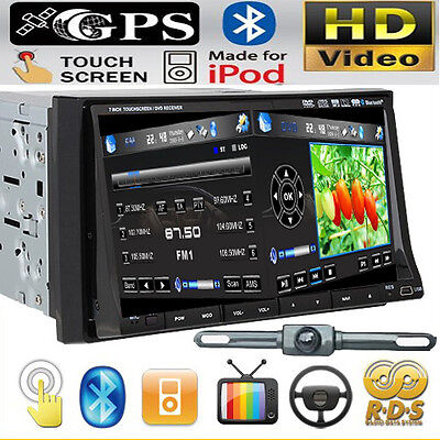 "IR2230 GPS+MAP+Camera-Double Din In Dash 7"" Car Stereo DVD Player Radio BT Ipod on Rummage"
