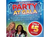Party Packages available at Gala Bingo Fenton/Hanley