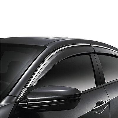 Genuine OEM 2016-2017 Honda Civic 4Dr Door Visors