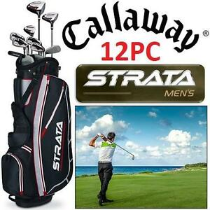 NEW 12PC CALLWAY MEN'S GOLF SET LH Strata, 12-Piece men's Golf Set -  LEFT HAND 104007210