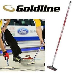 "NEW GOLDLINE CURLING AIR BROOM FLAIR-RED-100 206061926 1"" HANDLE SIZE FIBERLITE RED DRAGON SPORTS EQUIPMENT"