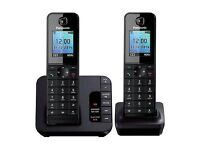 Panasonic KX-TGH222 Twin DECT cordless phone- Answerphone & Nuisance Call Block