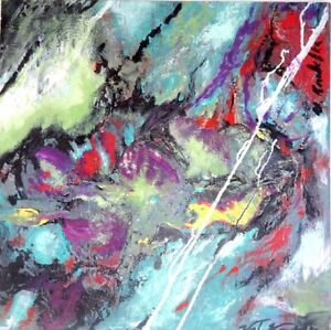 STORM RIDERS Original Painting Art Abstract Valerie Koudelka