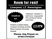 Rooms for rent! - Liverpool - £75PPW!!!