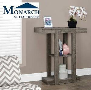 "NEW MS HALL CONSOLE ACCENT TABLE MONARCH SPECIALTIES 32"" DARK TAUPE HALL CONSOLE ACCENT TABLE 104731809"