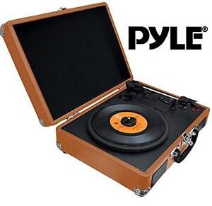 NEW PYLE BLUETOOTH RECORD PLAYER Bluetooth Classic Vintage Style Vinyl Record Player Turntable, Vinyl-To-MP3 101794056