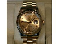 Rolex Day Date Presidential All Gold With Box, Papers