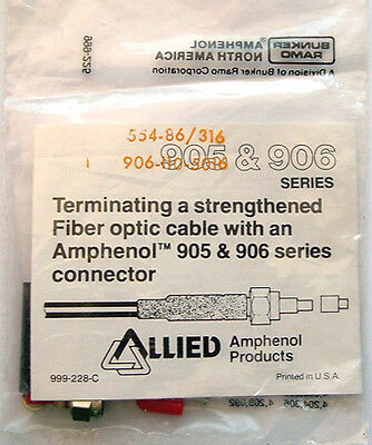 Fiber Optic Cable Connector Amphenol 906-110-5016 1