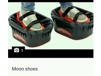 Moon shoes.. used.. spare bands incl