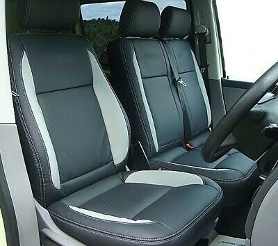 VW TRANSPORTER T5  CUSTOM MADE  LEATHERETTE SEAT COVERS WITH 0 AR . 50% OFF  RRP