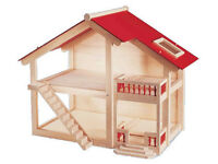 Pintoy Doll's House nearly new - beautiful wooden Pintoy Woodlands dolls house Pin Toy £100 new