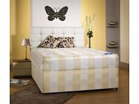 Double Divan Bed With Semi Orthopedic Mattress Only £89 With Free London Delivery* Headboard Drawers