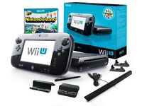 Wii U console, game pad and Nintendo land in box