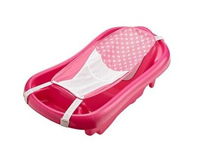 Pink Infant Newborn To Toddler Tub w/Sling Baby Bath Seat Shower Bathing Nursery