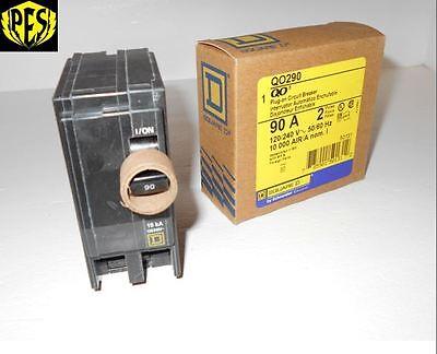 New In The Box Square D Qo290 2 Pole 90 Amp 240v Qo Plug In Breaker Fits Nq