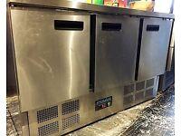 Polar 3 Door Counter Fridge 368Ltr - G622 Catering Triple Door