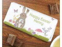 Personalised Easter meadow bunny milk chocolate bar
