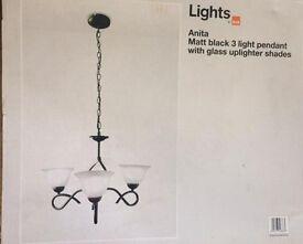 Ceiling Light B&Q three arm pendant