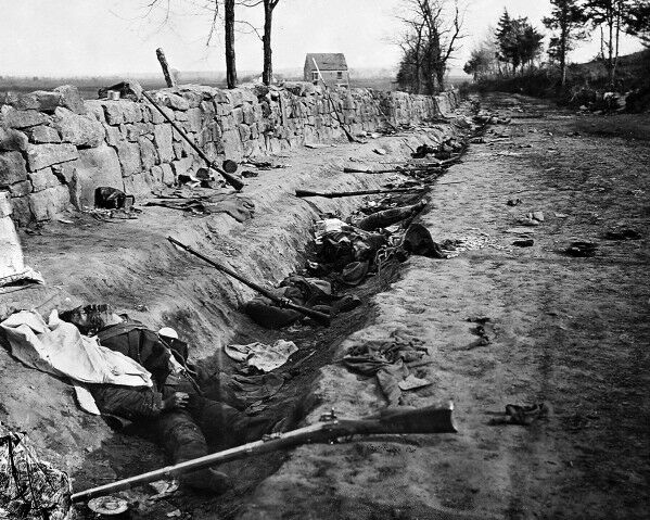 New 8x10 Civil War Photo: Confederate Dead at Marye