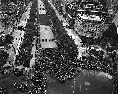 New 8x10 World War II Photo: Parade of U.S. Infantry on Champ Elysees, Paris