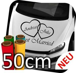 50cm-JUST-MARRIED-MATRIMONIO-SposarSI-Anello-ADESIVI-PER-AUTO-ADESIVO-no-9