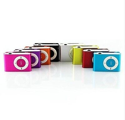 1x Hot Fashion Mini Clip Metal MP3 Player Support Up To 2GB 4GB SD/TF Card Mp3 on Rummage
