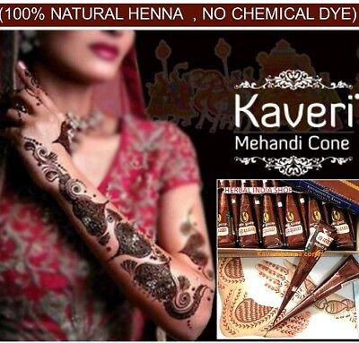 Naturale Kaveri Tatuaggi Temporanei Mehandi Erbe Henné Coni Arte Del Corpo Kit