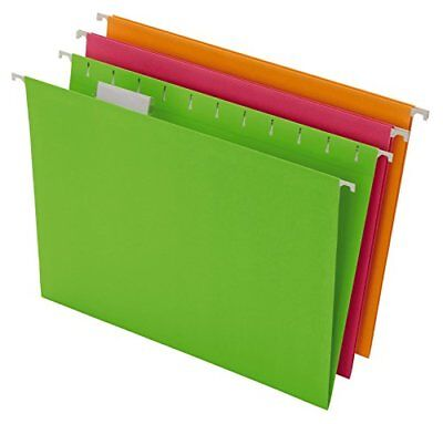 Pendaflex Glow Hanging File Folders Letter Size Assorted Case Pack Of 12 816