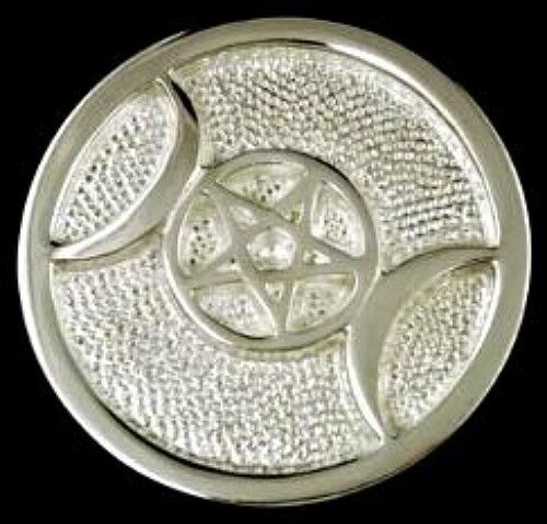 """Triple Moon Altar Paten - 3""""  Can be used as paperweight!"""