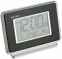 Seiko Flinders Quartz Digital Display Bedside Alarm Clock QHL068KLH