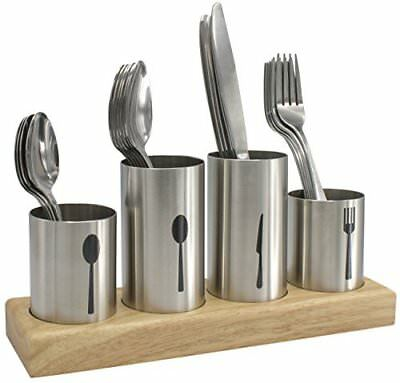Sorbus Silverware Holder with Caddy for Spoons, Knives Forks- Stainless Steel wi ()