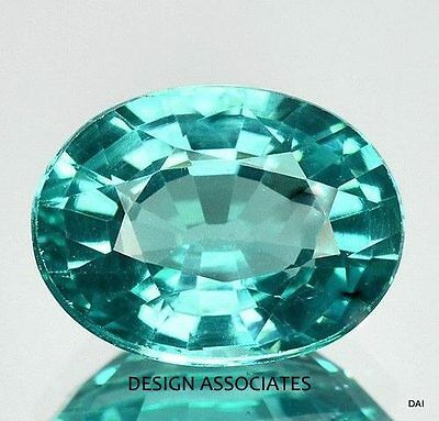 BLUE APATITE 8X6 MM OVAL VERY NICE COLOR