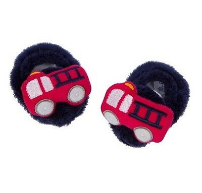 - Gerber Baby Boy Navy/Red Firetruck Booties Size 0-6M BABY CLOTHES SHOWER GIFT