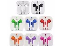 95p each clearance NEW MIXED COLOUR EARBUD HEADPHONE WITH MIC & VOLUME CONTROL With Retail Box