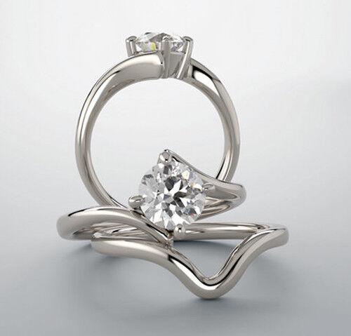 GIA 1.00 carat Round Diamond Engagement Solitaire 14k White Gold Ring G SI2