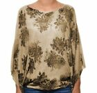 Polyester Poncho Beige Sweaters for Women