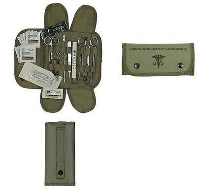 Green First Aid - 19 Pc Tactical OD Green First Aid Surgical Kit Military Molle Pouch Complete Set