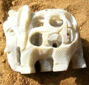 Carved Soapstone Elephant