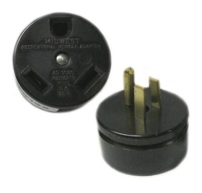Connecticut Electric 15- 20A Outlet to 30A RV Camper Plug Adapter AD30-20 Amp