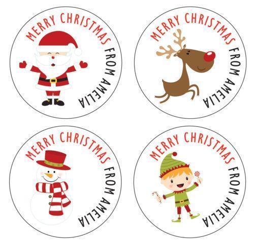 Personalised Xmas Stickers Ebay
