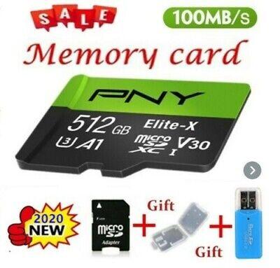 Micro SD 512 GB Memoria con Card Reader e Adattatore - PNY Elite-X scheda UHS-I
