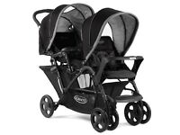 Graco Duo Studio Double Pushchair/Pram - used a few times. Excellent condition