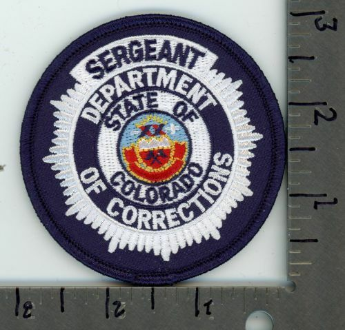 COLORADO CO COLORADO DEPARTMENT OF CORRECTIONS SERGEANT NEW PATCH POLICE