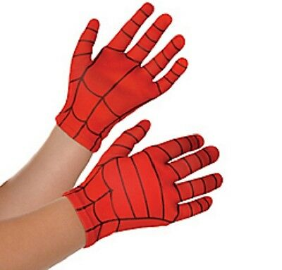 Halloween Child Costume Accessory Spider-Man Gloves Superhero Fancy Dress Red (Halloween Dress Up Man)
