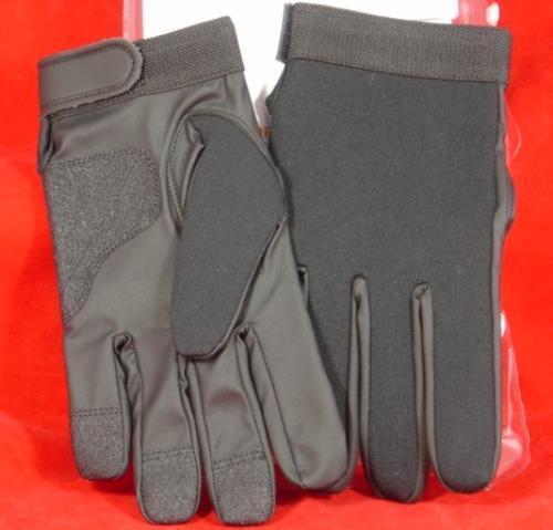 Armor Flex Black Police Duty Shooting Gloves Size SMALL