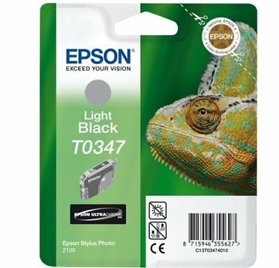 Epson Light Black Ink Cartridge T0347 Stylus 2200 GENUINE -